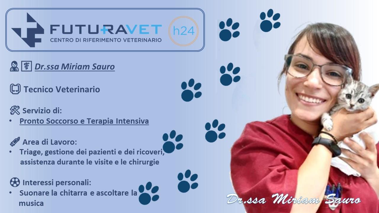 Dr.ssa Miriam Sauro - Tecnico Veterinario Clinica Futuravet